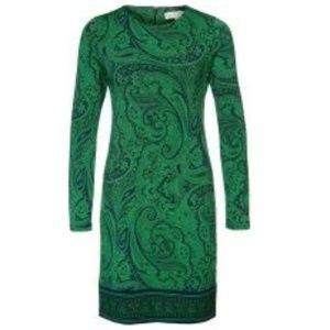 MICHAEL KORS Jersey Shift Dress Paisley Pattern S